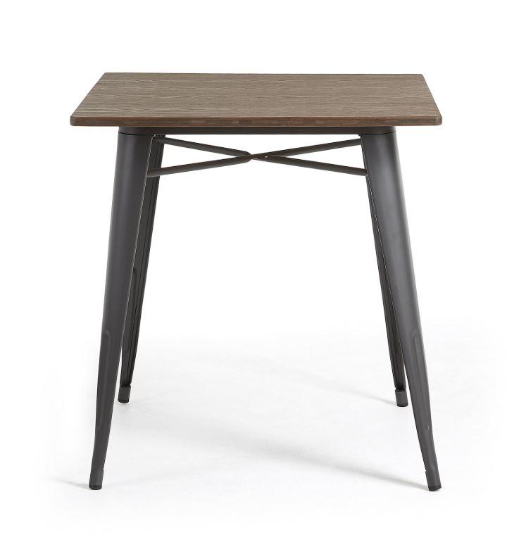 Laforma malibu caf?bord - brun/grafitgrå bambus/stål, kvadratisk (80x80) fra laforma fra boboonline.dk
