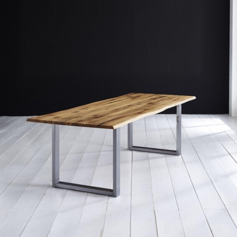 BODAHL Concept 4 You plankebord - olieret eg, m. barkkant og Manhattan ben, m. udtræk 6 cm 200 x 110 cm