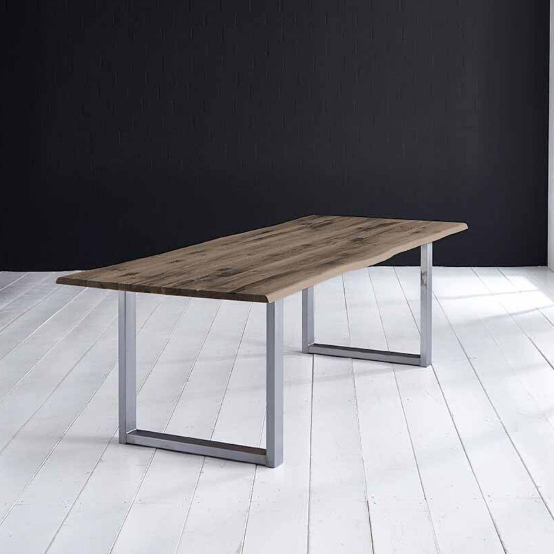 Bodahl Concept 4 You Plankebord - Røget Eg, M. Barkkant Og Manhattan Ben, M. Udtræk 6 Cm 260 X 100 Cm