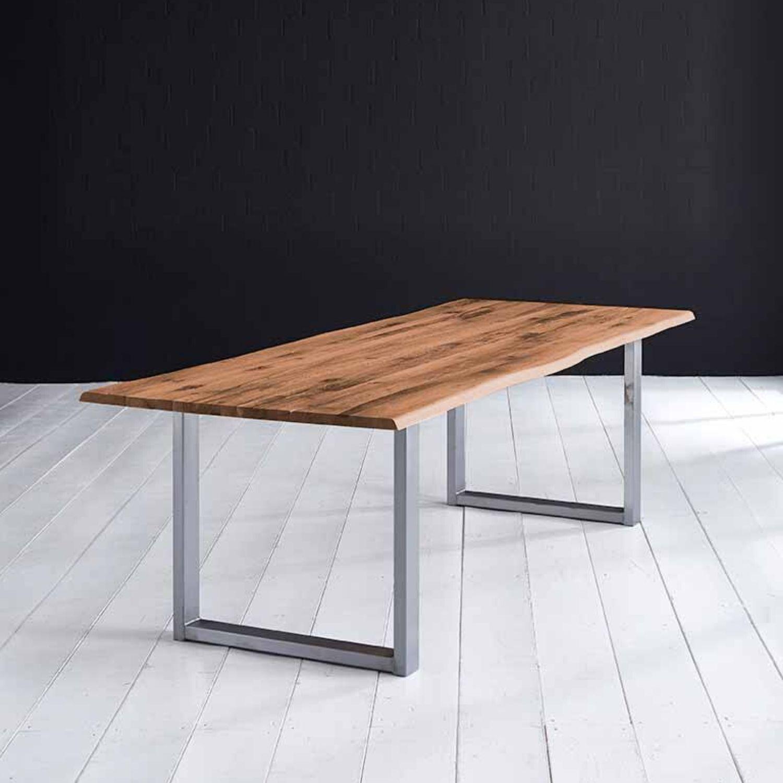 BODAHL Concept 4 You plankebord - old bassano eg, m. barkkant og Manhattan ben, m. udtræk 6 cm 220 x 110 cm