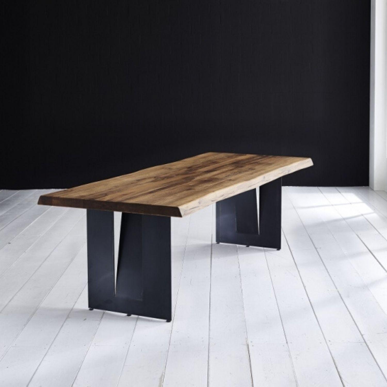 Bodahl Concept 4 You Plankebord - Olieret Egetræ M. Barkkant Og Steven Ben, M. Udtræk 6 Cm 200 X 100 Cm Spisestue