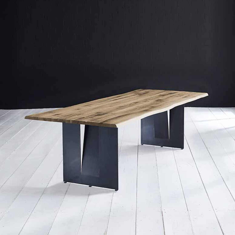 BODAHL Concept 4 You plankebord - desert egetræ m. barkkant og Steven ben, m. udtræk 6 cm 300 x 110 cm.