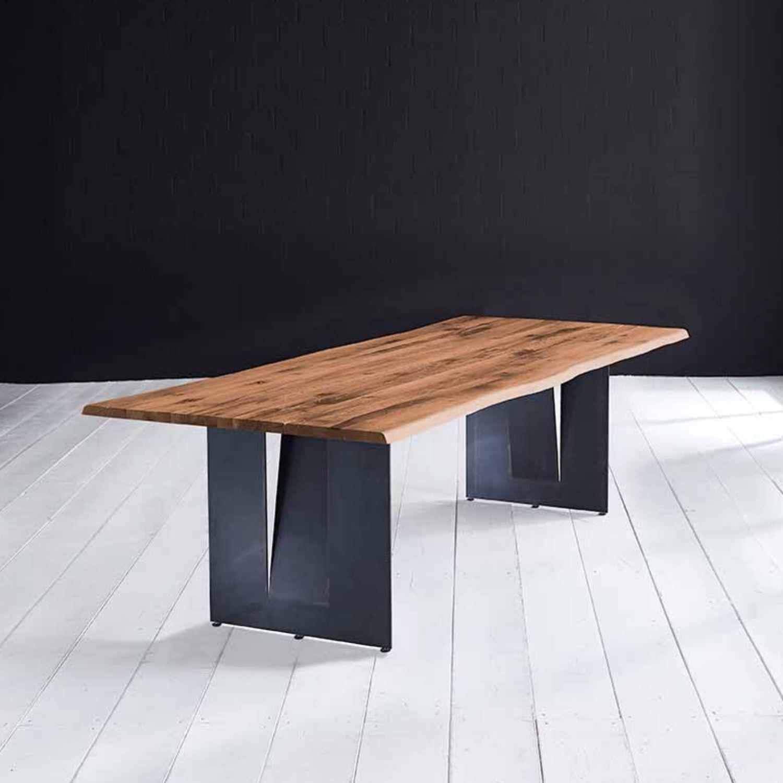 Bodahl Concept 4 You Plankebord - Old Bassano Egetræ M. Barkkant Og Steven Ben, M. Udtræk 3 Cm 220 X 100 Cm Spisestue