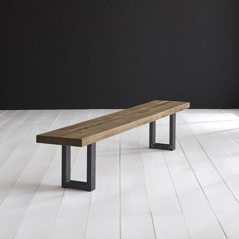 BODAHL Concept 4 You spisebordsbænk - massiv desert egetræ m. Manhattan ben 220 x 40 cm 3 cm