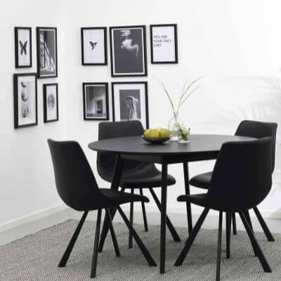 Rundt spisebord Køb runde spiseborde til spisestuen Fri