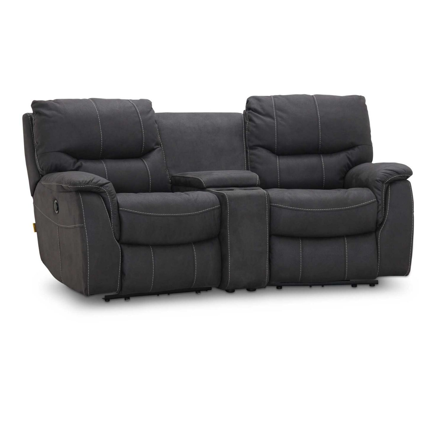 Image of   HAGA Colorado sofa - grafit grå stof, 2 pers., m. recliner funktion