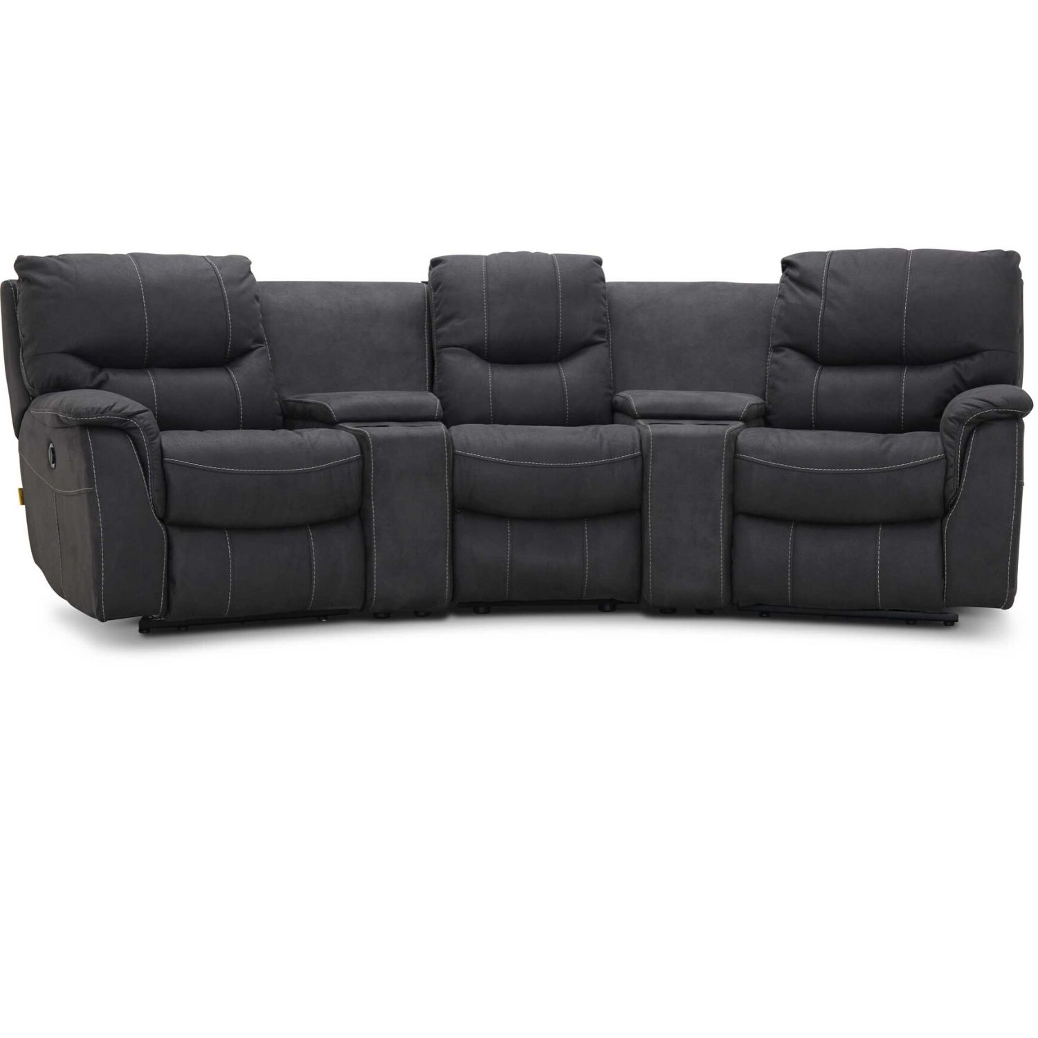 Image of   HAGA Colorado sofa - grafit grå stof, 3 pers., m. recliner funktion