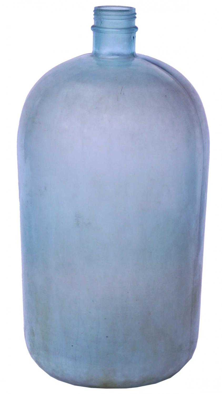Billede af Trademark Living Gammel og stor glasflaske - grøn/blå