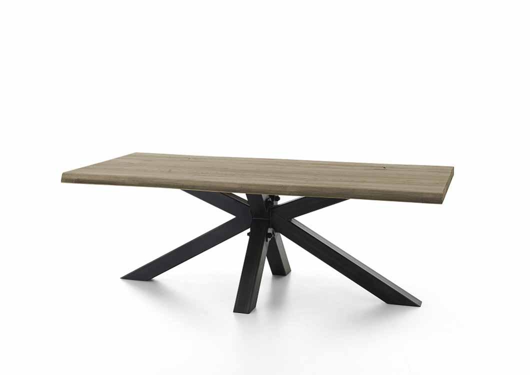 BODAHL Chicago plankebord - desert egetræ m. metalben 240 x 100 cm.