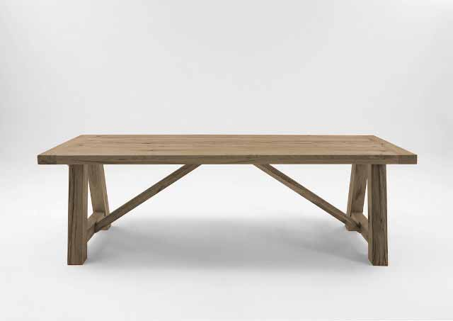 BODAHL Nantes spisebord - desert egetræ, plankebord 200 x 110 cm