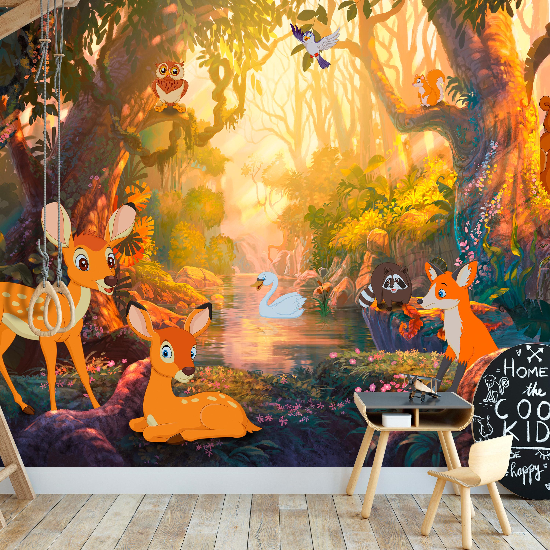 Image of   ARTGEIST Fototapet - Animals in the Forest, søde dyr i skoven (flere størrelser) 100x70