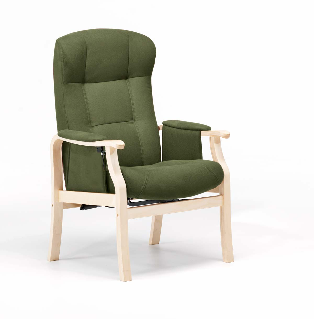 NORDIC-C Sorø Standard seniorstol, eksl. skammel - oliven