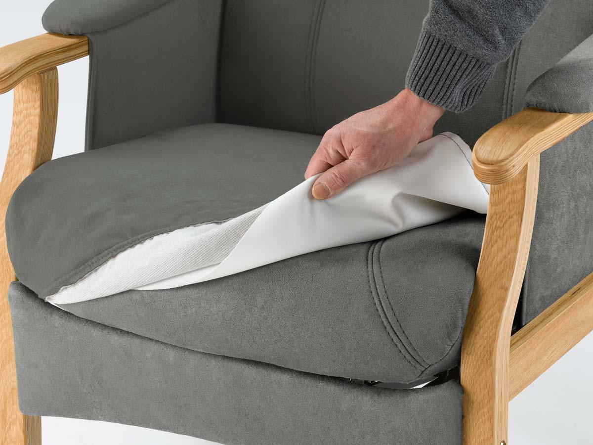 Nordic-c separat inkontinensbetræk - antracitgrå stof, vaskbart