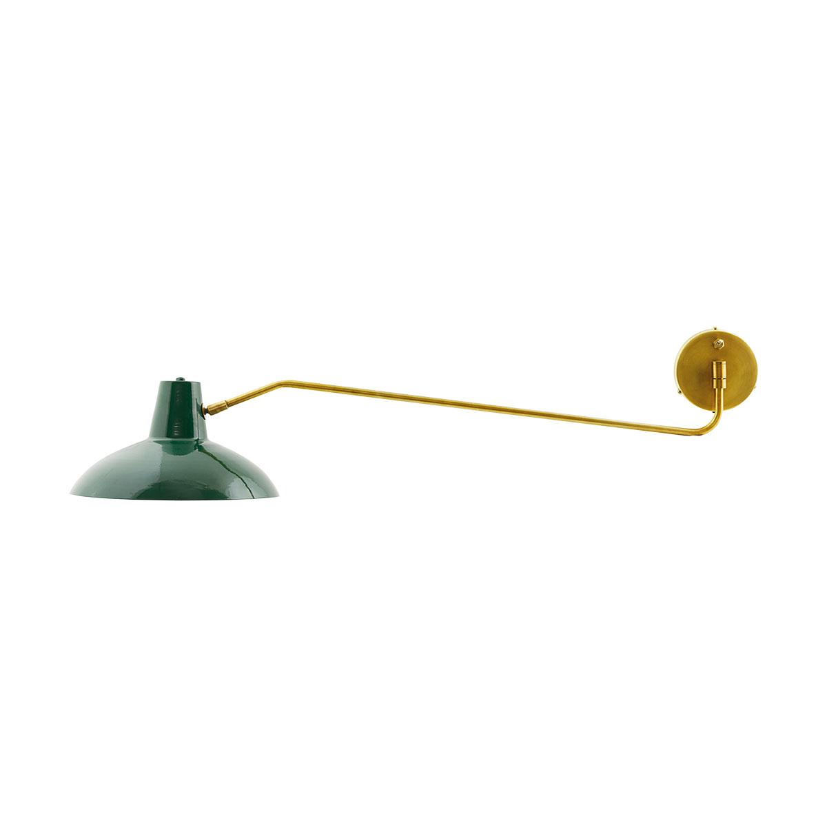 House doctor desk væglampe - grønt jern/messing fra house doctor på boboonline.dk