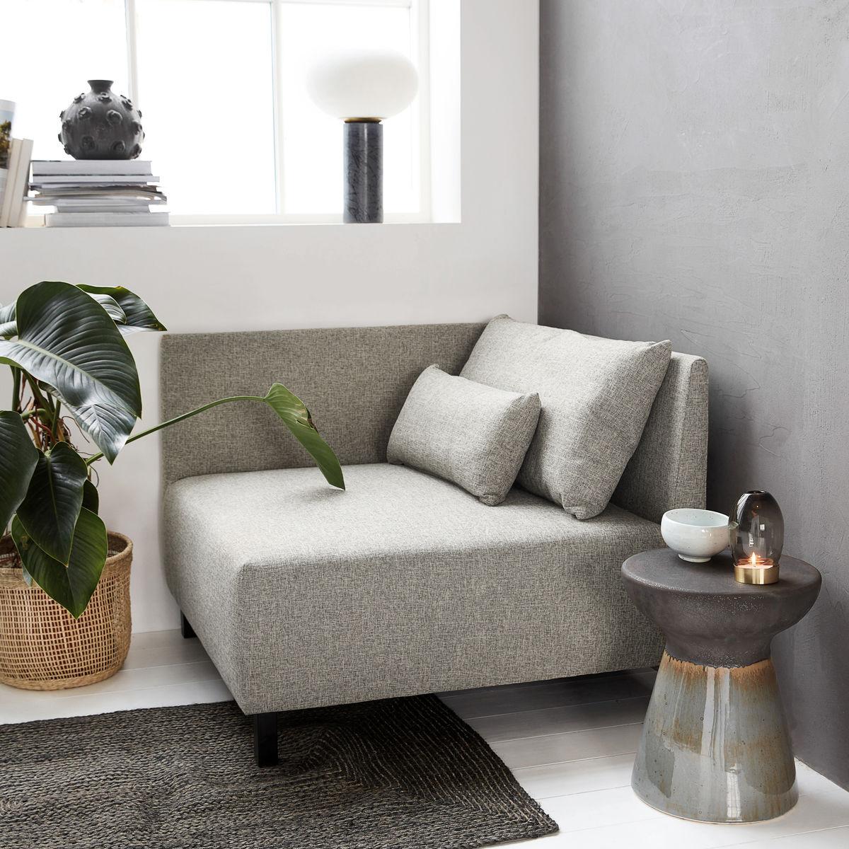 house doctor modulsofa m 2 puder box gr melange stofsofaer bobo. Black Bedroom Furniture Sets. Home Design Ideas