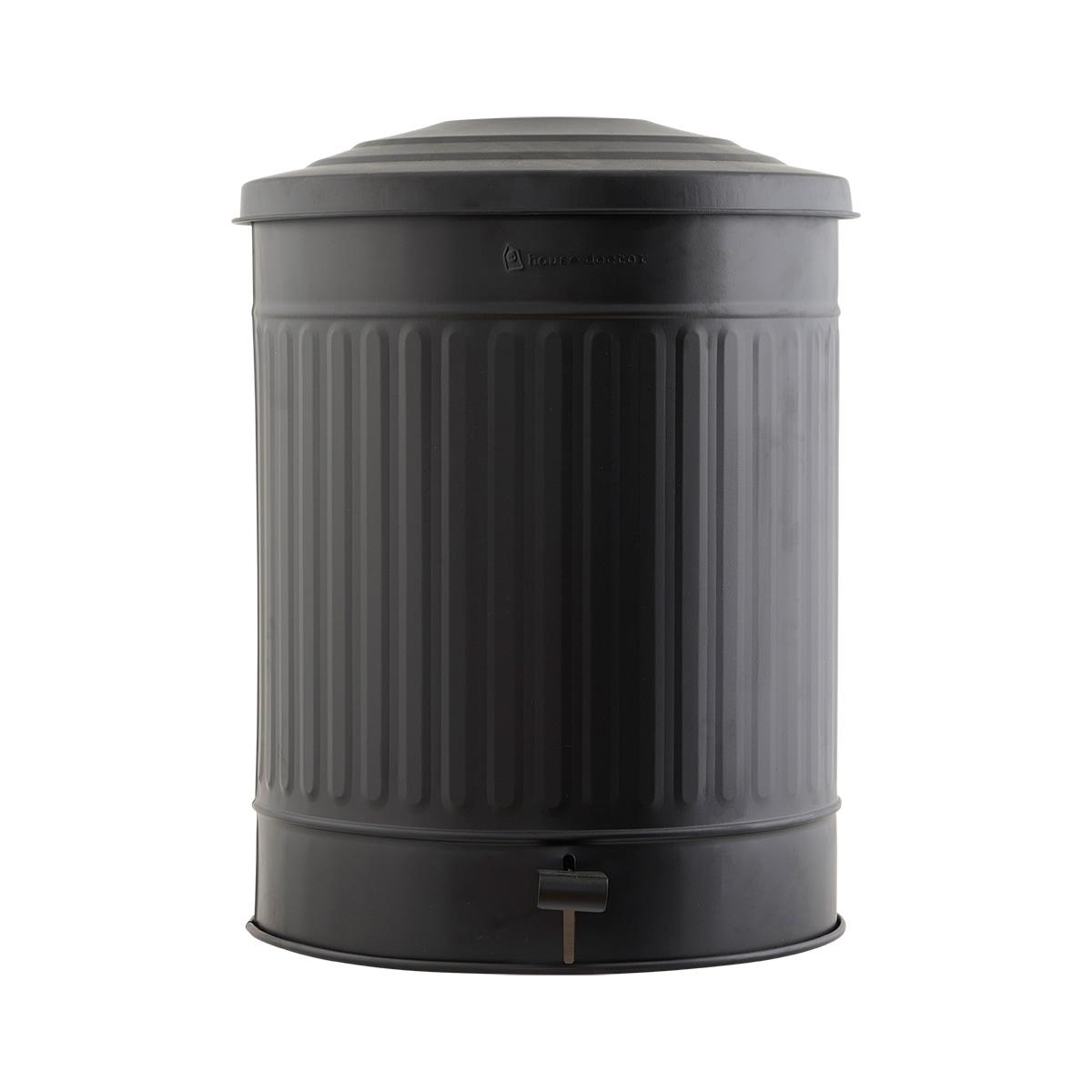 House doctor affaldsspand - mat sort jern, m. låg (ø 37) fra house doctor på boboonline.dk