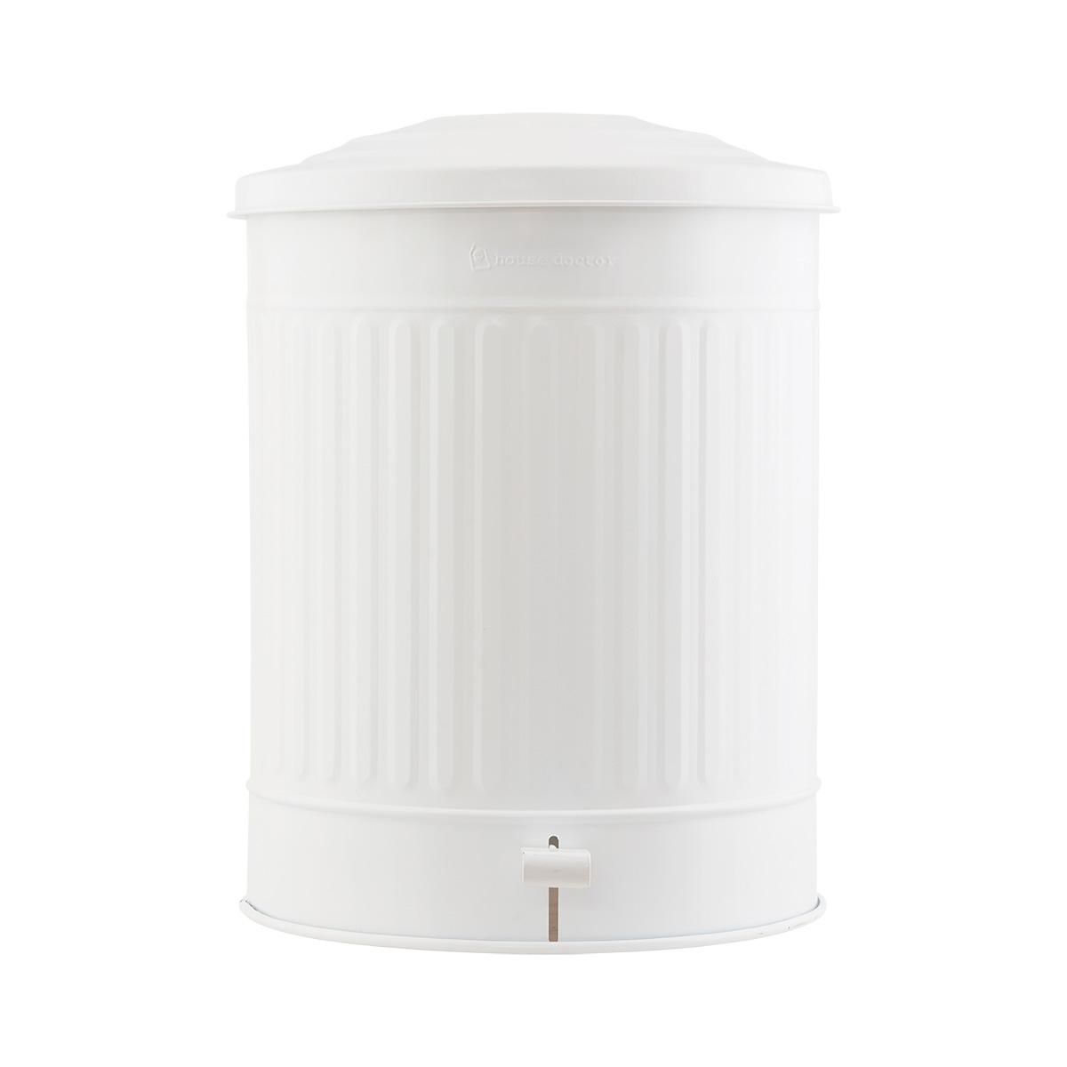 House doctor affaldsspand - mat hvid jern, m. låg (ø 37) fra house doctor fra boboonline.dk