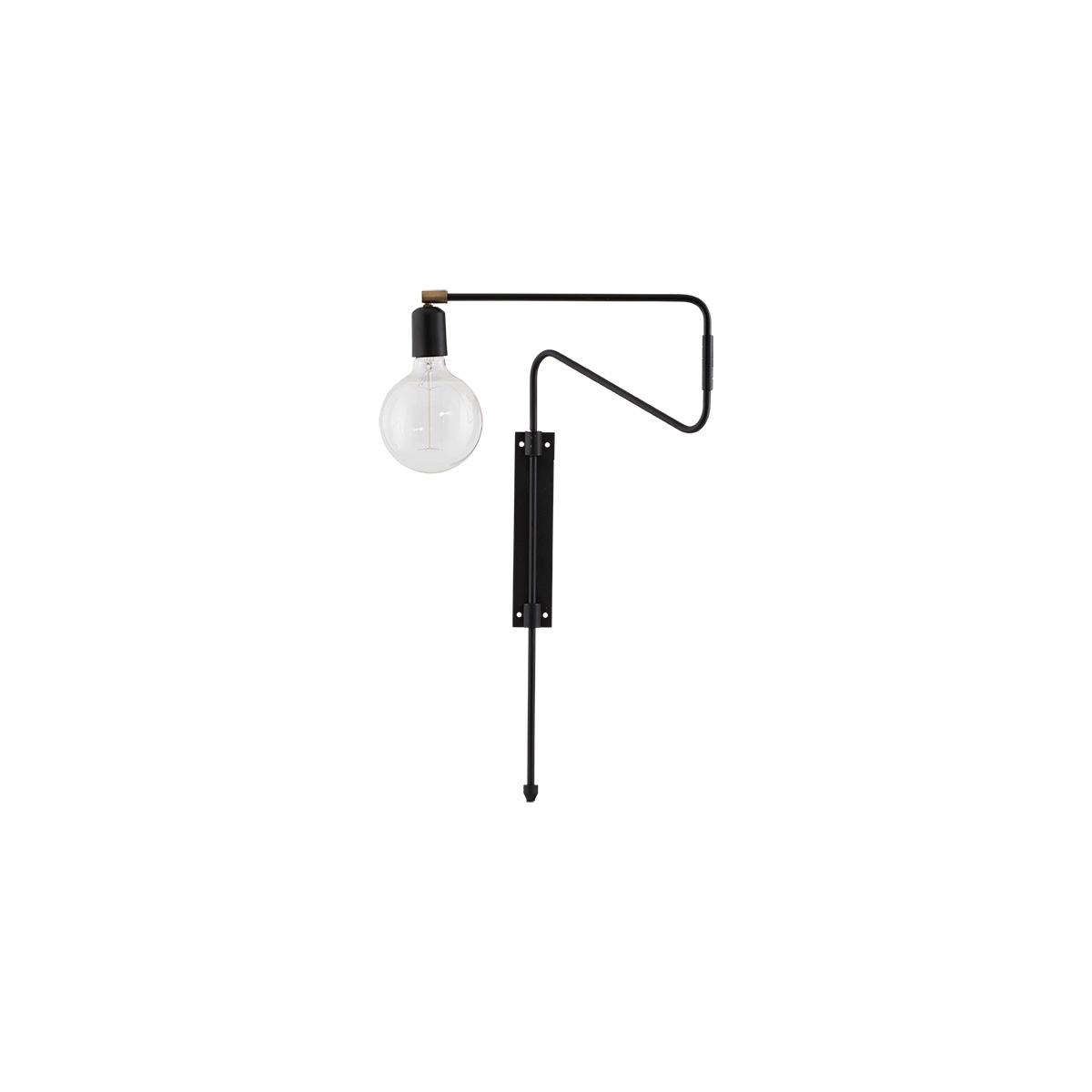 House doctor swing væglampe - sort jern, lille fra house doctor fra boboonline.dk