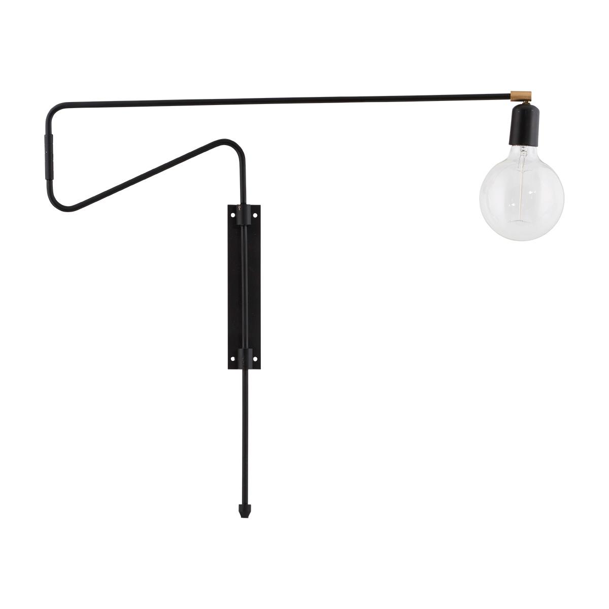 house doctor – House doctor swing væglampe - sort jern, stor fra boboonline.dk