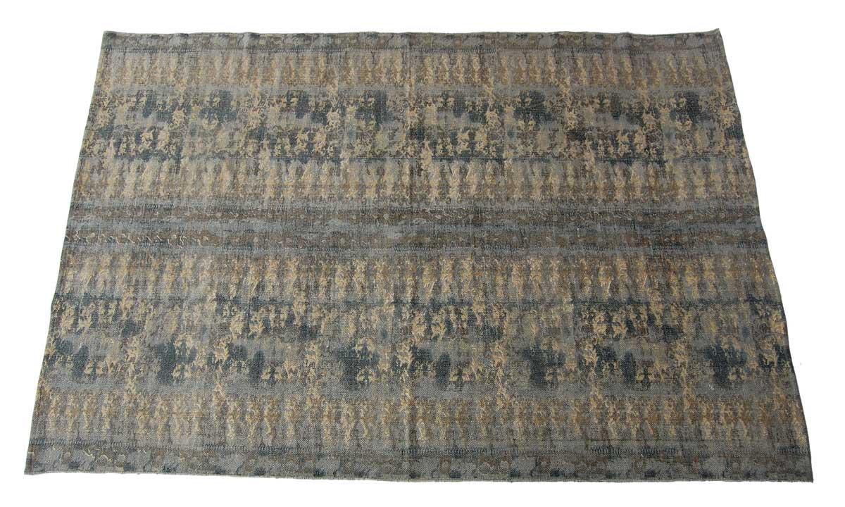 Billede af Trademark Living Tæppe med etnisk mønster - olivengrøn