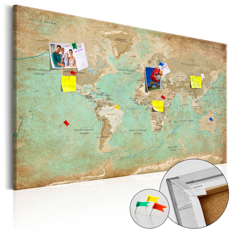 Artgeist Antikt verdenskort