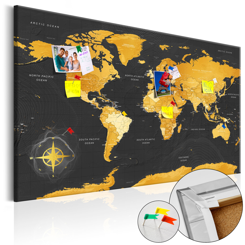 Artgeist Gyldent verdenskort