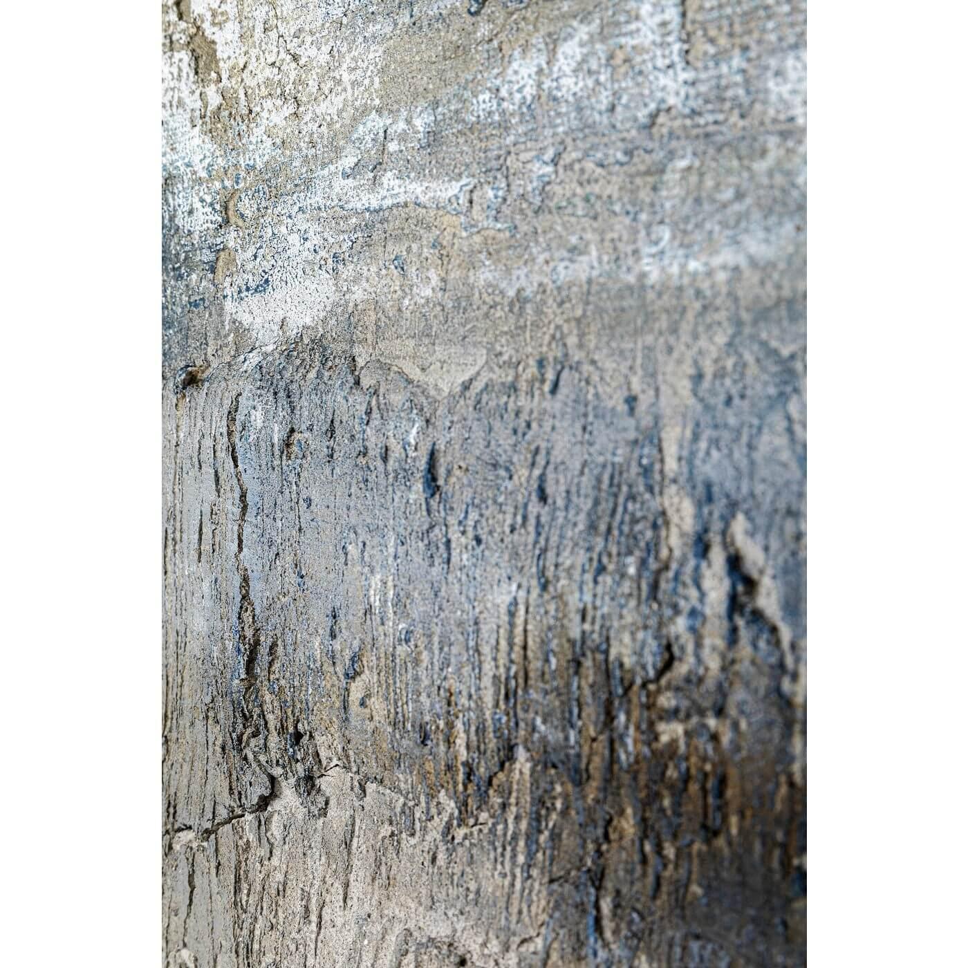 kare design – Kare design into the night abstrakt akryl maleri - blå/grå nuancer (120x90) på boboonline.dk