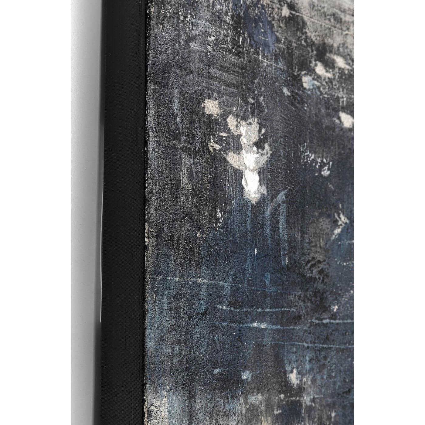 Kare design into the sea abstrakt akryl maleri - blå/grå nuancer (120x90) fra kare design på boboonline.dk