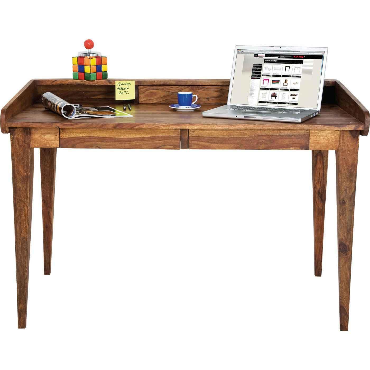 Kare design authentico secretary skrivebord - lakeret træ, m. 2 skuffer fra kare design på boboonline.dk