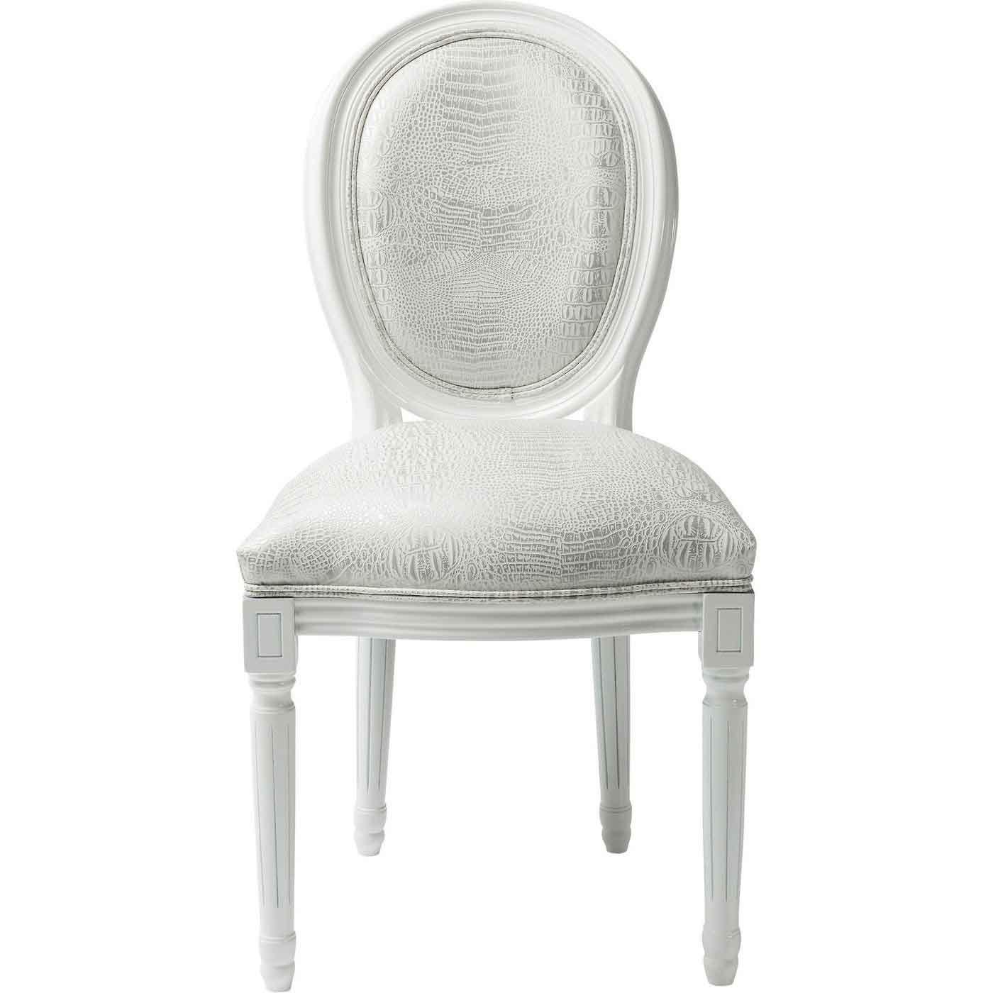 kare design – Kare design gastro louis spisebordsstol - hvid læder pu, solidt bøgetræ fra boboonline.dk