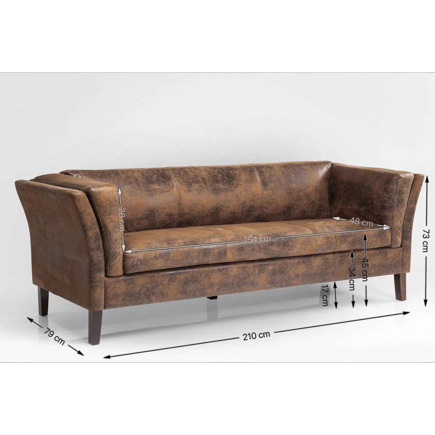 Picture of: Square Dance Design Sofa Fra Kare Brun Vintage Laeder Overalt