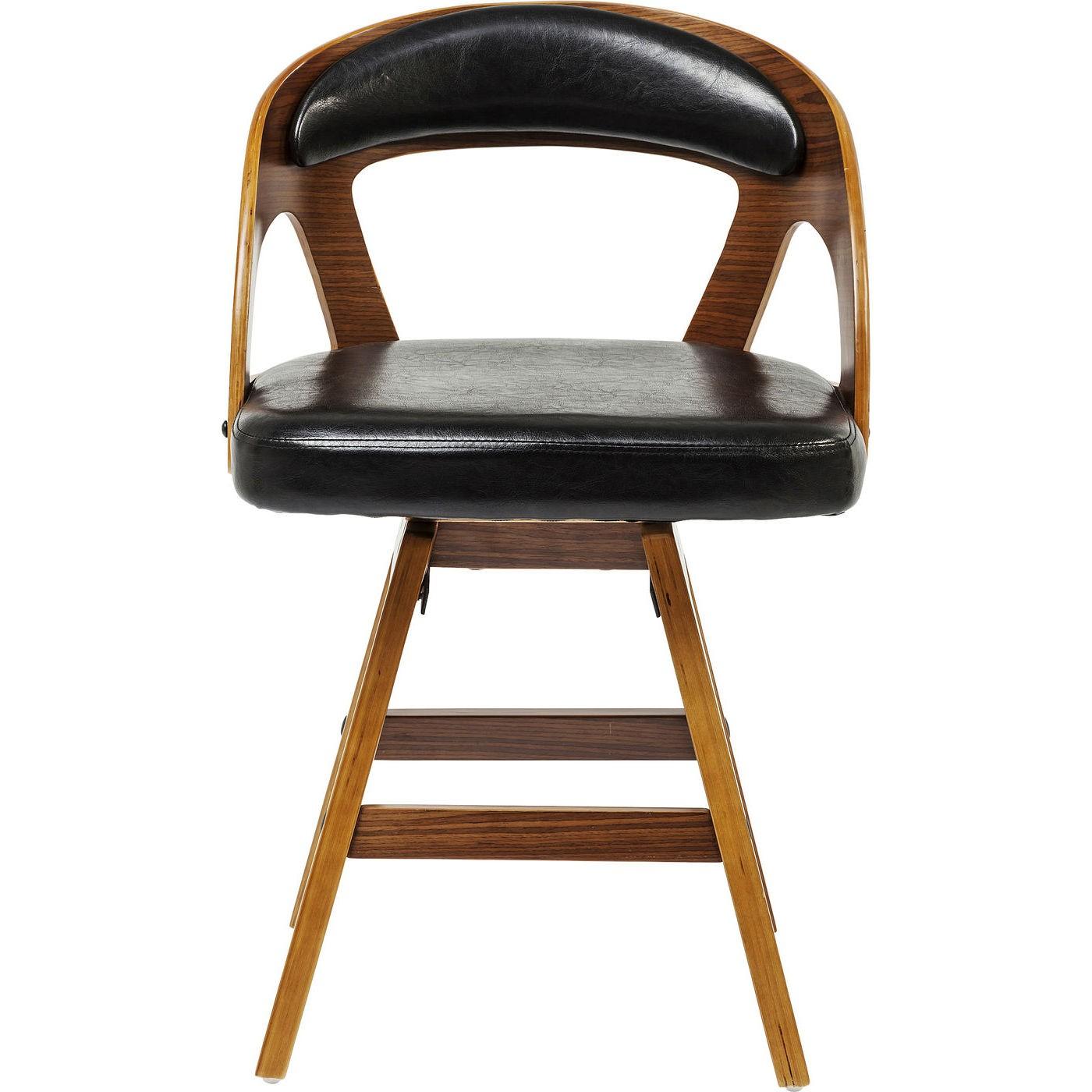 kare design Kare design manhattan stol - valnød laminat og sort læder pu/stof fra boboonline.dk