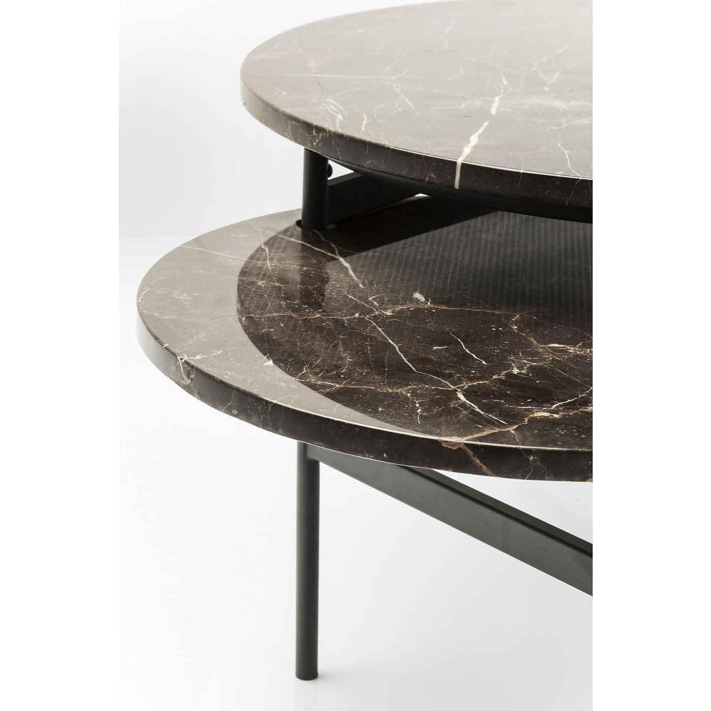 Kare Design Monocle Sofabord Brun Marmor M Stalben 110x60 Sofaborde Bobo Mobler Boligtilbehor Og Indretning Til Hjemmet
