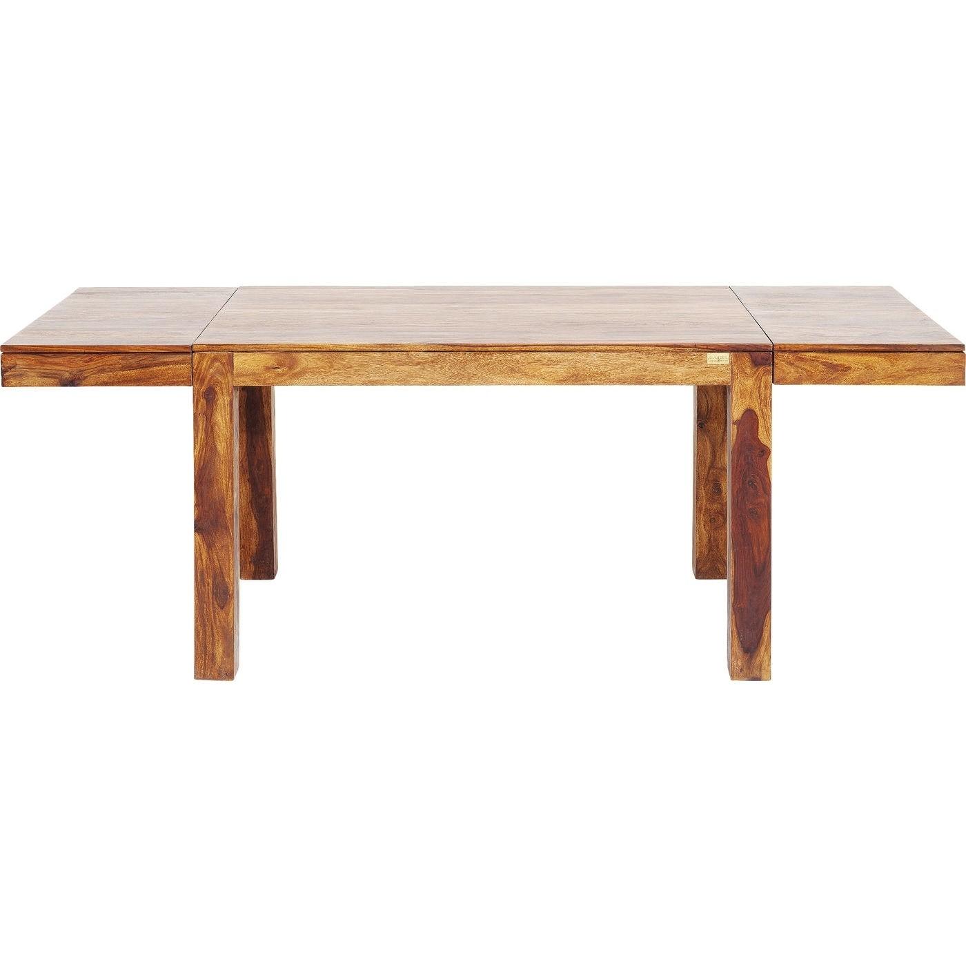 Kare Design Momo spisebord m. 2 tillægsplader - sheeskam/palisander træ (120-200cm x 80cm) thumbnail
