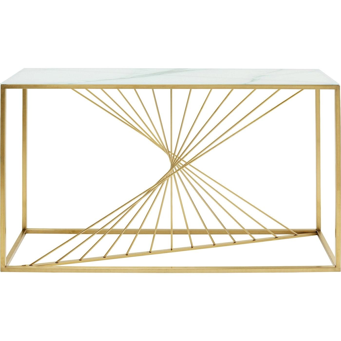KARE DESIGN rektangulær Art Marble konsolbord - glas og stål (142x42)