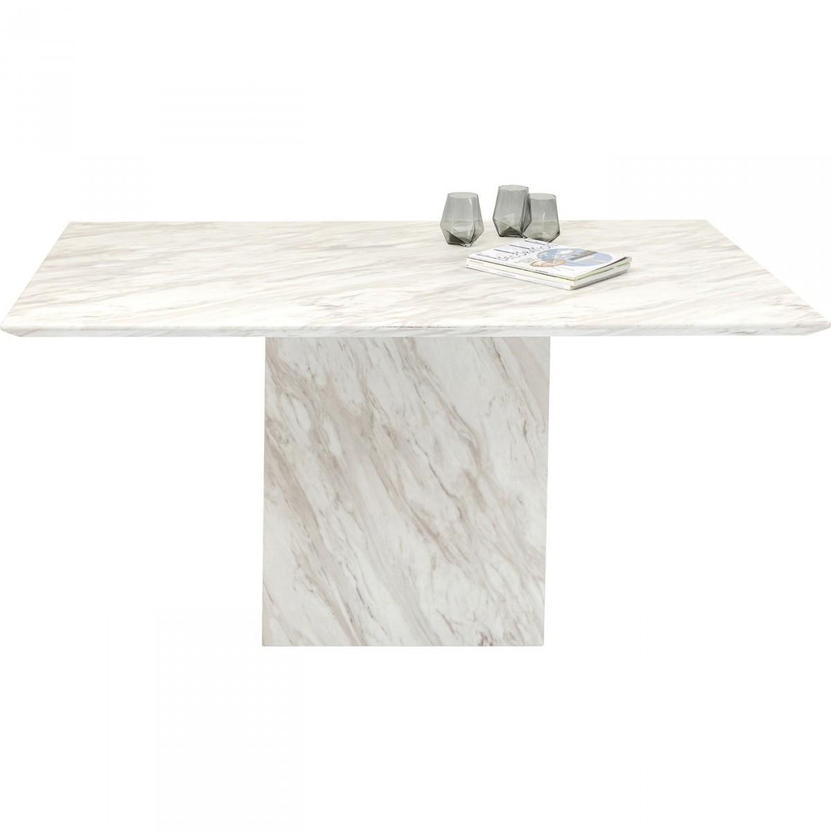 KARE DESIGN rektangulær Artistico Marble spisebord - hvid polyresin (160x90)