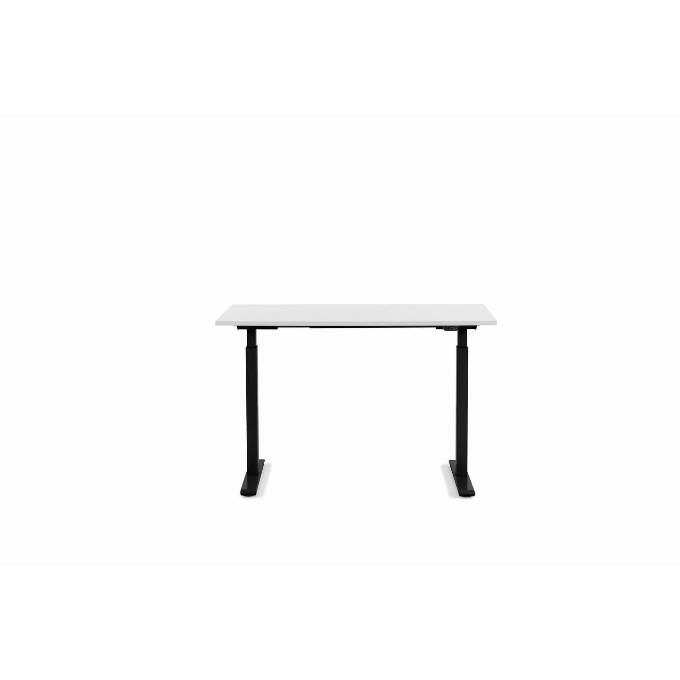 KARE DESIGN Office Smart Black White skrivebord - hvid melamin og sort stål (120x70)