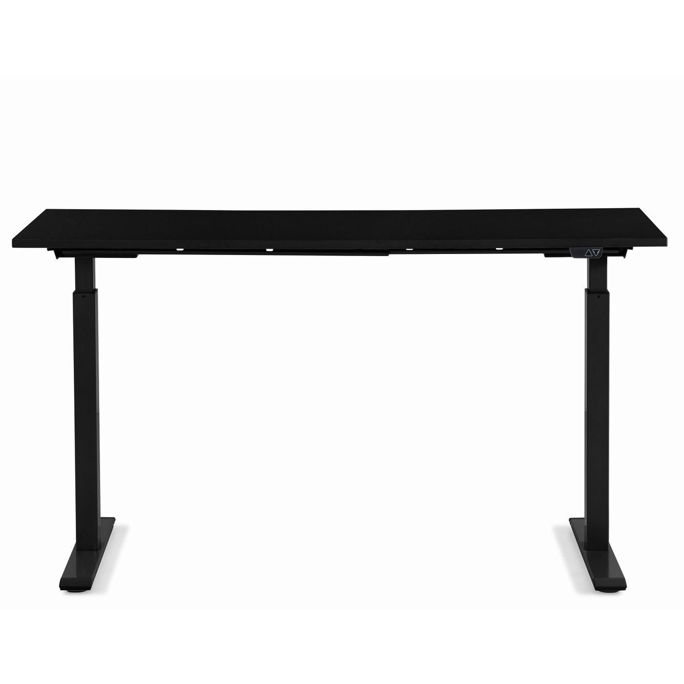 KARE DESIGN rektangulær Office Smart Black White skrivebord - sort melamin og hvid stål (140x60)