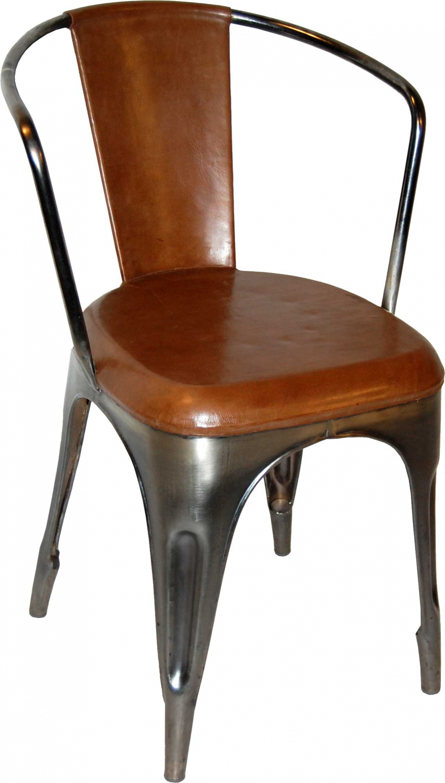 Image of   TRADEMARK LIVING Living Spisebordsstol - læder og shiny