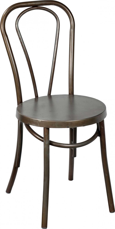 trademark living – Trademark living spisebordsstol i antikzink med bløde runde former fra boboonline.dk
