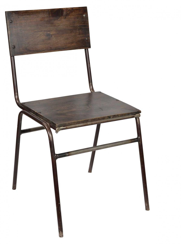 trademark living Trademark living spisebordsstol - kombination af træ og jern på boboonline.dk