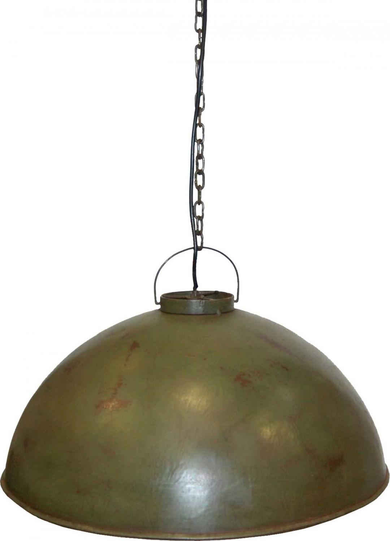 Image of   TRADEMARK LIVING Loftpendel i fabriksstil - flaskegrøn