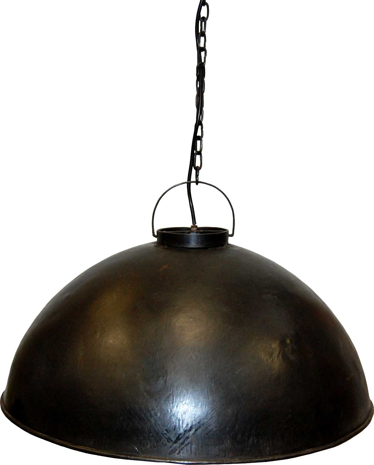 Image of   TRADEMARK LIVING Loftpendel i fabriksstil - burned wax jern - stor
