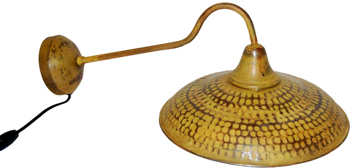 Billede af TRADEMARK LIVING Væglampe - karrygult jern med patina