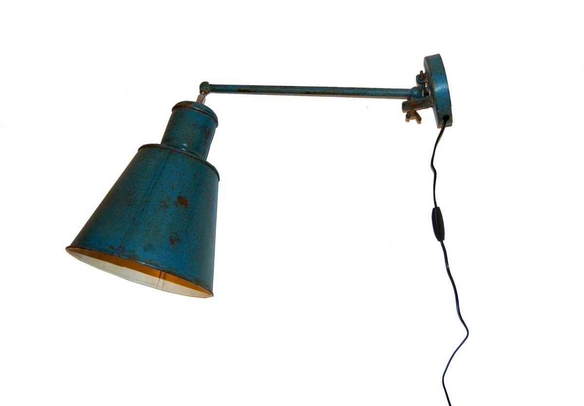 Billede af TRADEMARK LIVING væglampe - petrolblå og cream