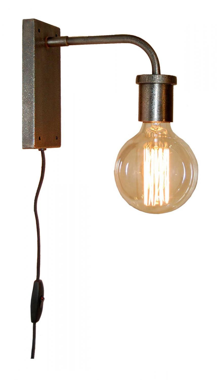 Billede af TRADEMARK LIVING Væglampe - burned zink