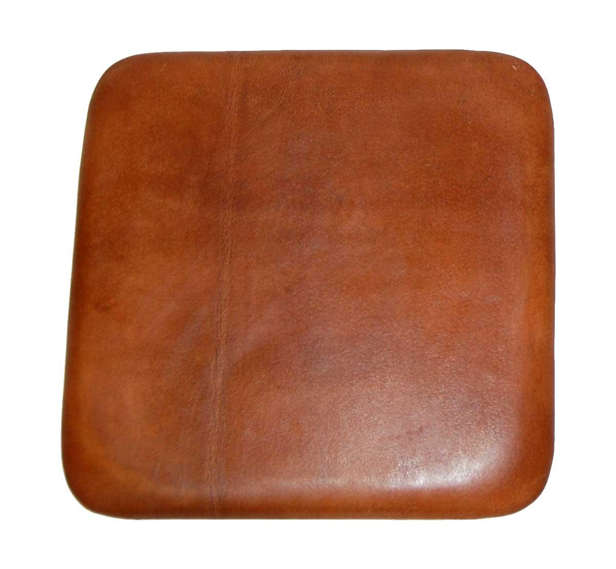 Trademark living sædehynde i brunt læder til barstol fra trademark living fra boboonline.dk