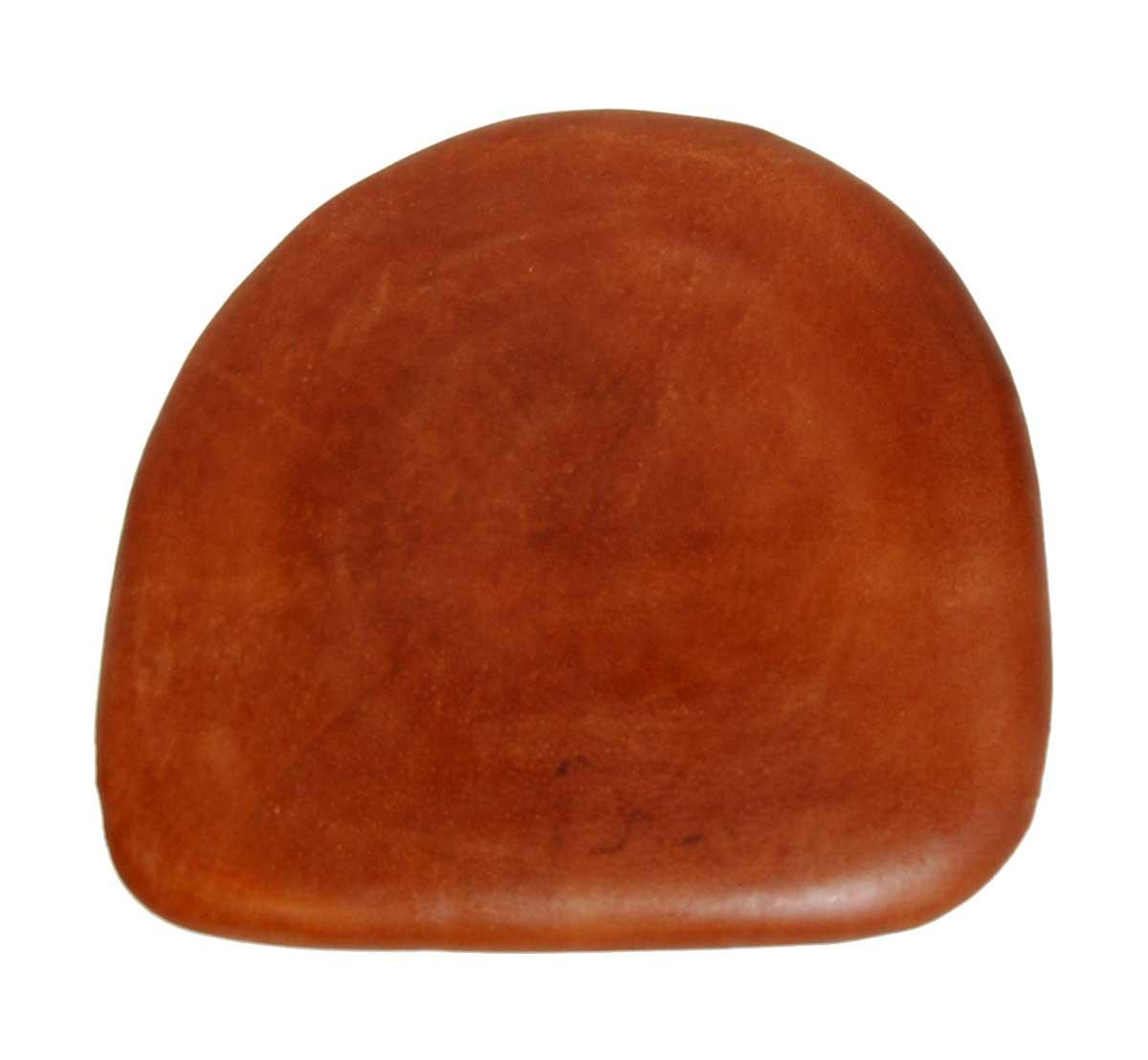 TRADEMARK LIVING sædehynde - ægte brunt læder, passer til Living stol thumbnail