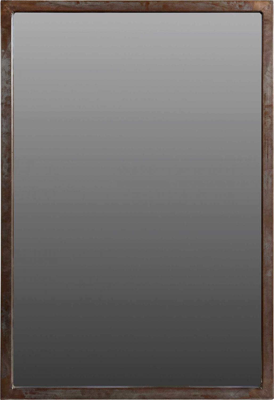 TRADEMARK LIVING vægspejl med rå jernramme
