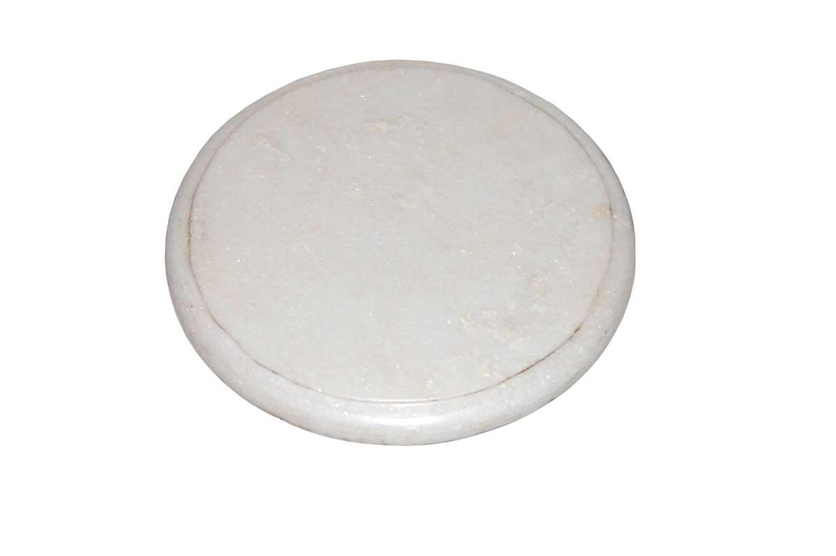trademark living trademark living vintage bordskåner i marmor - medium